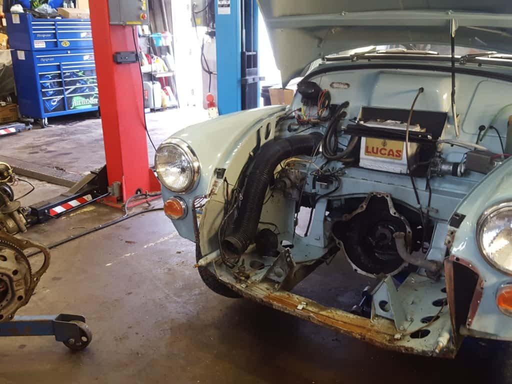 Morris Minor Engine Replacement
