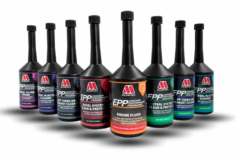 John Woods Motorcare are now Millers Oils Emission Performance Programme (EPP) Participants