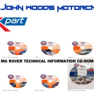 MG ZR ZS ZT ZTT F TF -  Rover Mini 25 45 75-  Technical Info CD-ROM (Various Options Available)