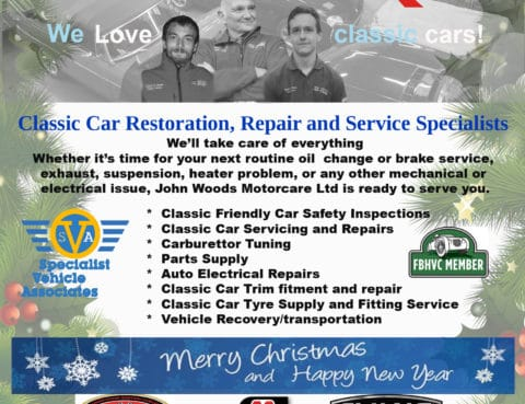 John Woods Motorcare Ltd's latest Classic Car Weekly Advert approved for publication.