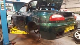 MG TF 2004 1.6L Head Gasket, Clutch, Exhaust change and subframe tidy up