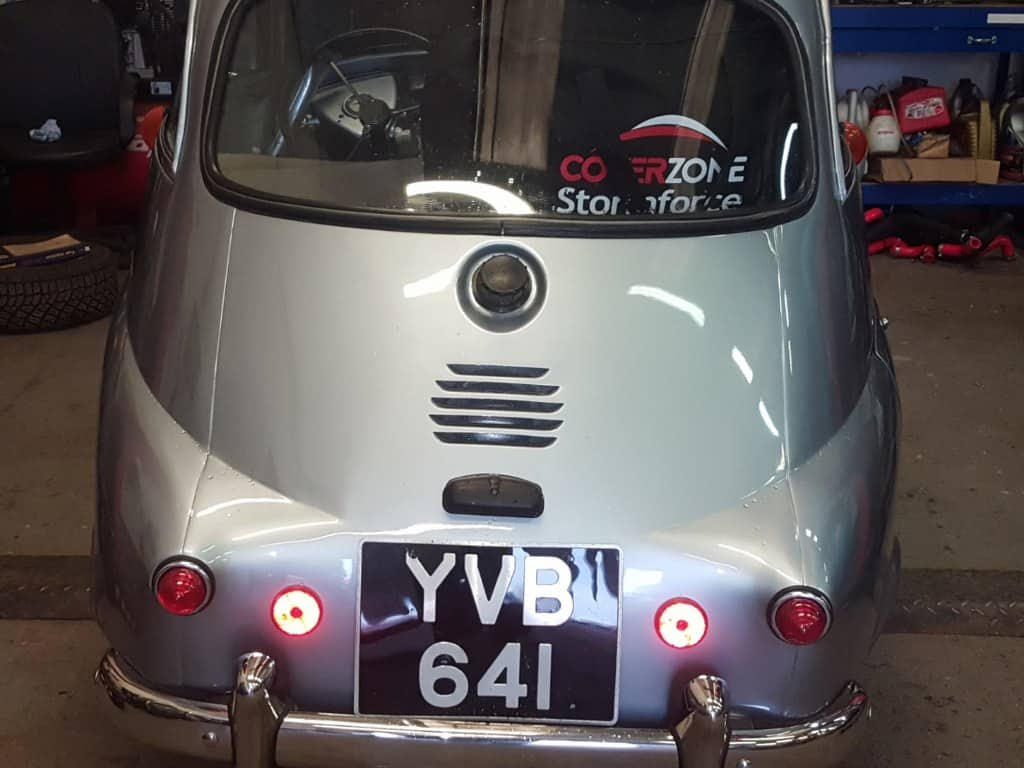 1960 BMW Isetta 300 (13hp!) - Bertie's new owner brought him in for check over and Classic Friendly Inspection