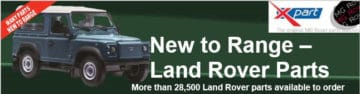 Xpart Ltd announce 'New to Range' Land Rover Parts - over 28,500 parts becoming available to order