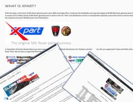 John Woods Motorcare .net Website - Xpart Product Update Page Updated
