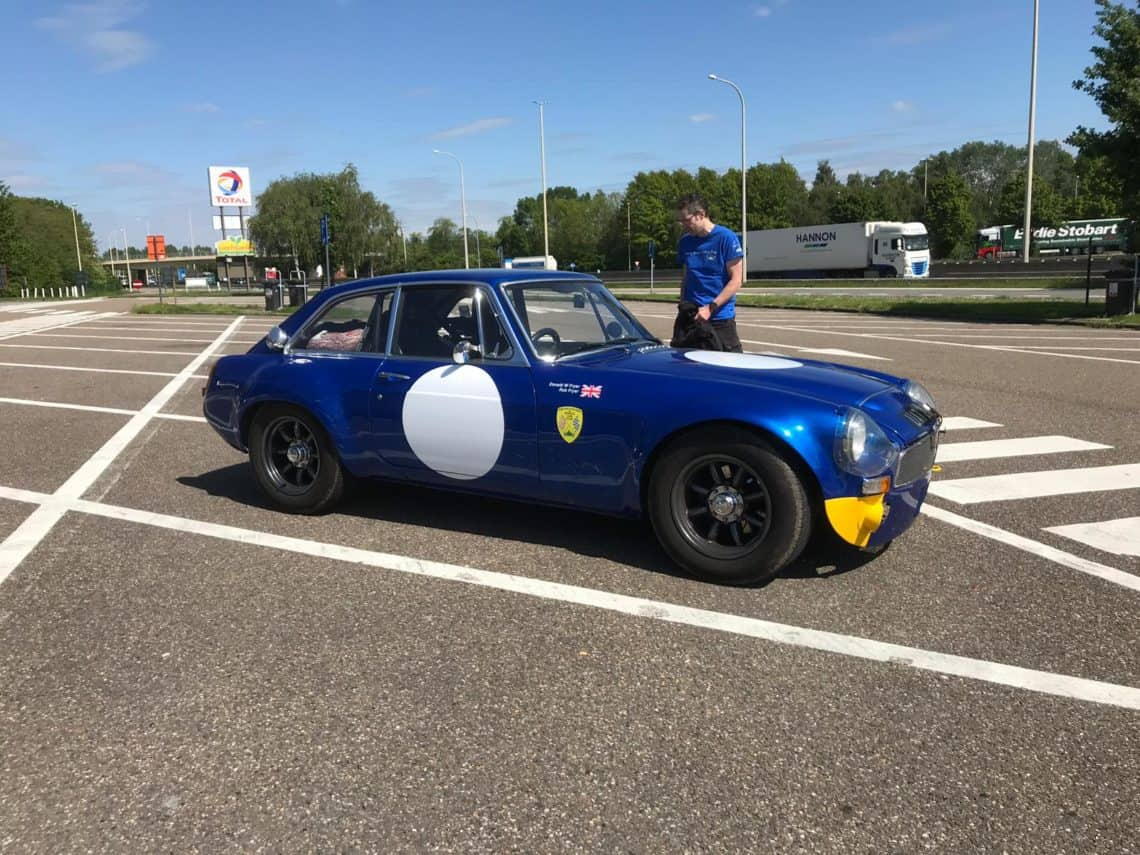 Rob and 'Margaret' MGC GT Sebring's trip to Spa-Francorchamps circuit for the 2019 Spa Classics