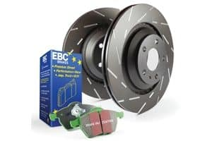 EBC MG6 1.8T (Petrol) Slotted Brake Disk and Green Stuff Pad Kit