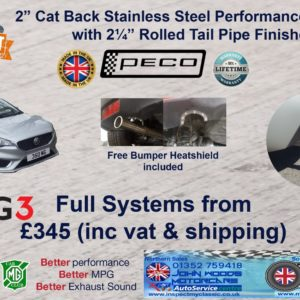 Peco MG3 (2018MY) Stainless Steel Exhaust System (cat back)