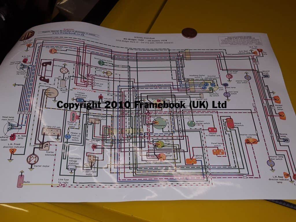 MG Midget Rewiring with help from Framebook UK A3 Magnetic Wiring Diagrams